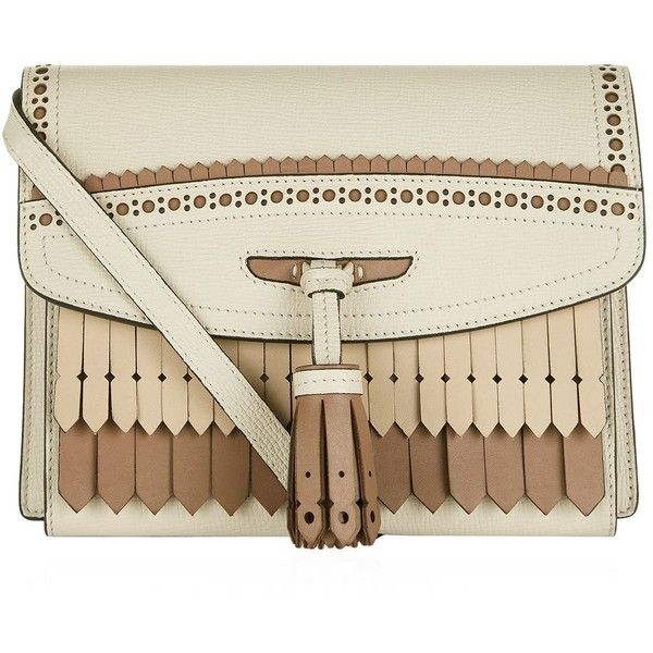 Burberry Fringed Macken Cross Body Bag ($1,315) ❤ liked on Polyvore featuring bags, handbags, shoulder bags, brown handbags, burberry purses, burberry shoulder bag, fringe crossbody and burberry handbags