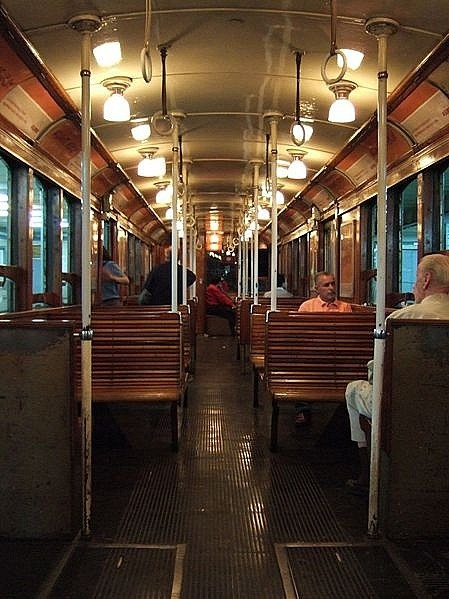 Subte A Line still has the wooden cars - Buenos Aires, Argentina