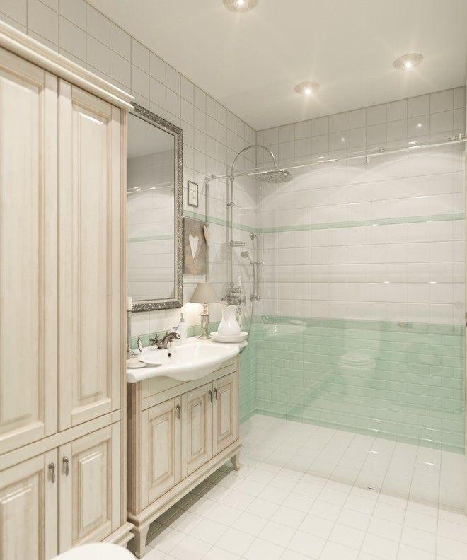 Ванная комната. Интерьер квартиры, классика, ЖК «Пулковский», 50 кв.м.