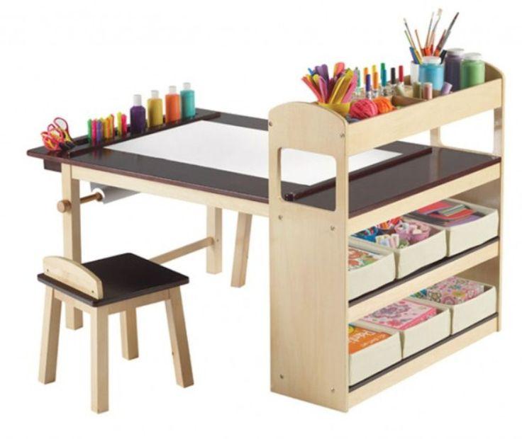 Amazing Kids' Station For DIY Creations | DigsDigsIdeas, Kids Stuff, For Kids, Kids Room, Crafts Tables, Deluxe Art, Kids Art, Art Tables, Art Center