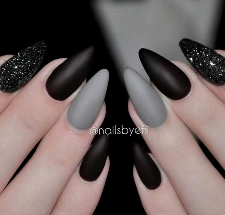Nail Art With Dark Colors | Cute nails, Simple nails, Nail ...