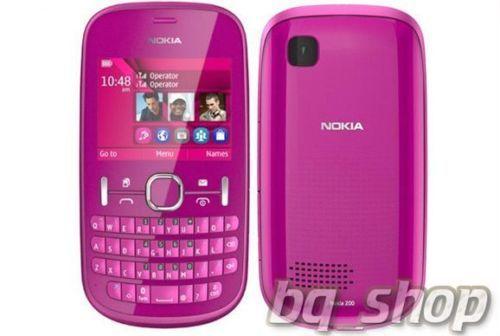 Nokia-Asha-200-Pink-QWERTY-Dual-Sim-FM-Radio-MP3-Camera-Phone-By-Fedex