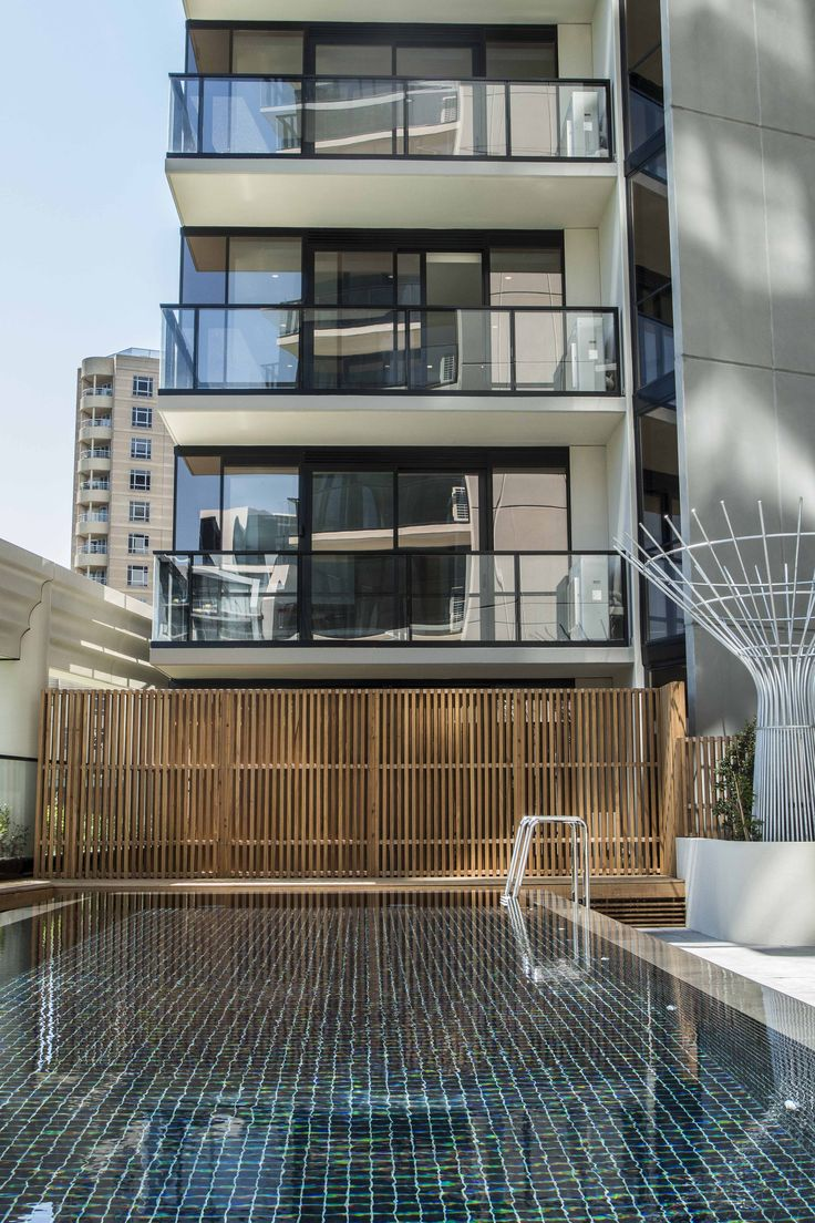 Lucia Apartments, South Yarra. MAX Double Glazed windows by EDGE Architectural. http://www.edgearchitectural.com.au/portfolio_item/lucia-apartments-south-yarra/ #Architecture #melbourne #ElenbergFraser #Lucia #pool #windows #double #glazing #melbourne