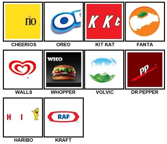 100 Pics Food Logos Answers 1 10 Logo Answers Logo Food Logos
