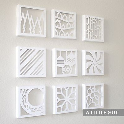 Christmas paper quilt & boxes by A LITTLE HUT (Cutting files & Printables)