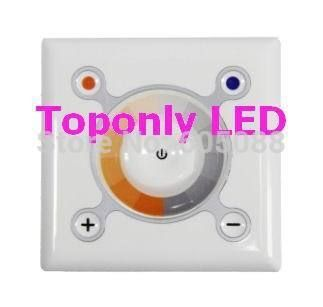 188.00$  Buy here - http://aihly.worlditems.win/all/product.php?id=1936313112 - 12/24v square touch pwm led dimmer controller,used for warm&warm white led strips/luminaires,to adjust CCT&brightness!