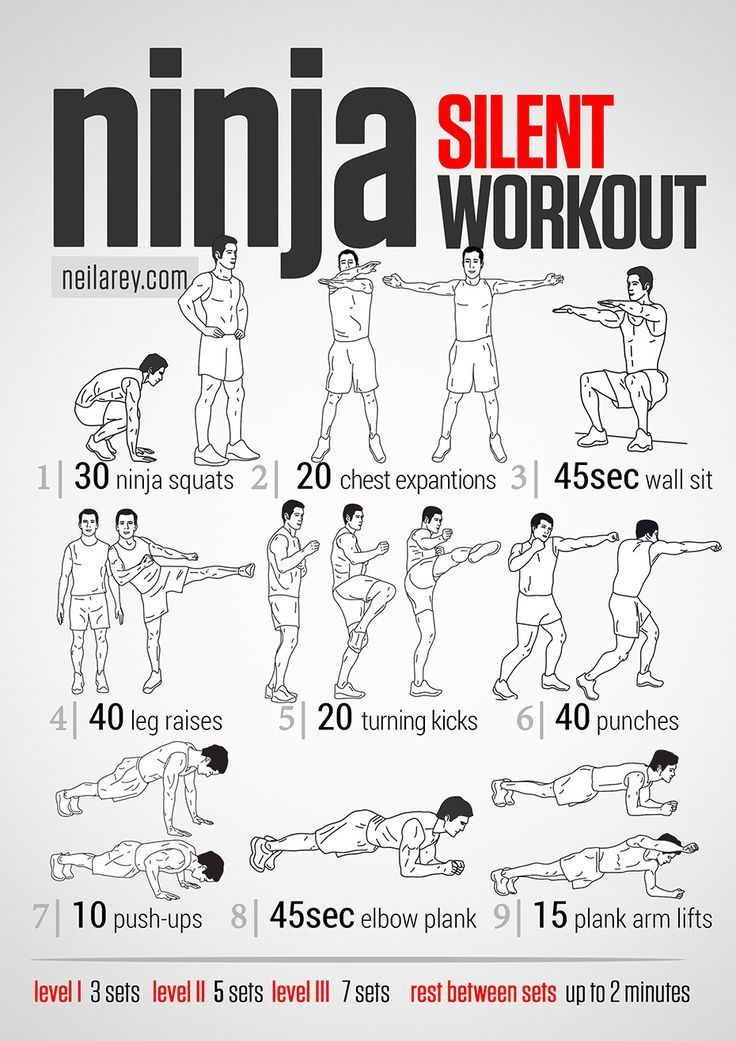 Ninja Workout – This would be great for when Im wa…