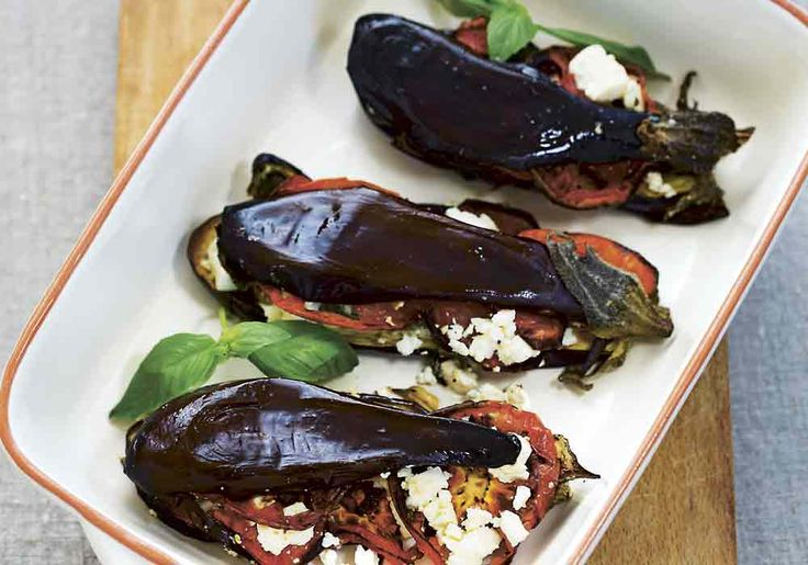 Bakad aubergine med Vaccaost