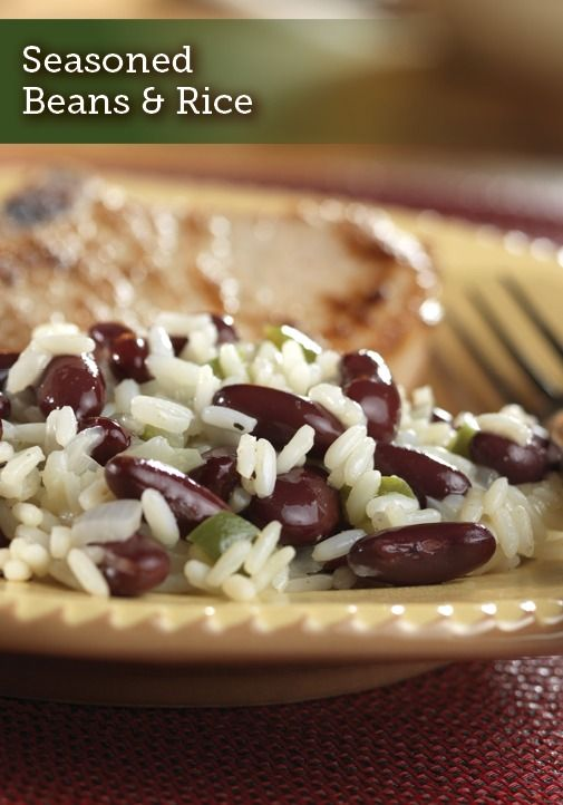 This flavorful Seasoned Beans & Rice recipe is seasoned cumin, onions, green pepper, and more. It'll be a family favorite side dish in no time!