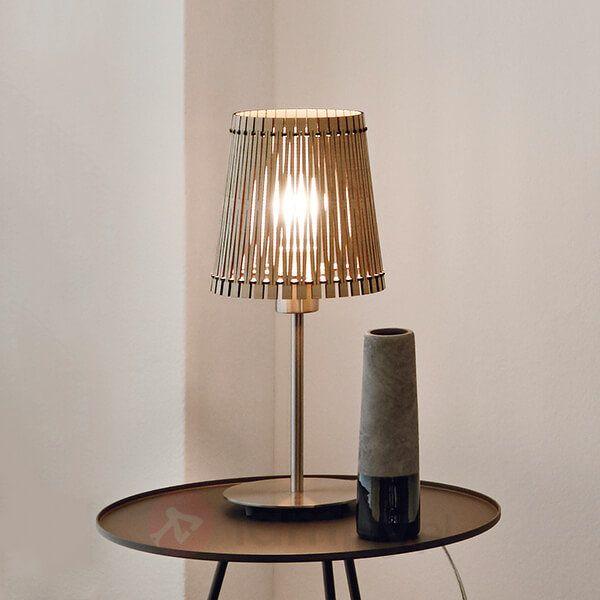 Z drewnianym kloszem – lampka stołowa Sendero 3031914