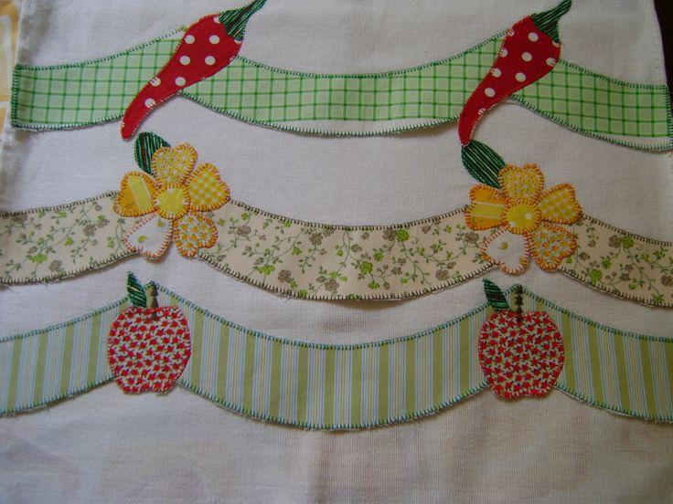 Pano de prato em tecido de sacaria ótimo para pintar ou bordar, com acabamento em aplique. <br>.