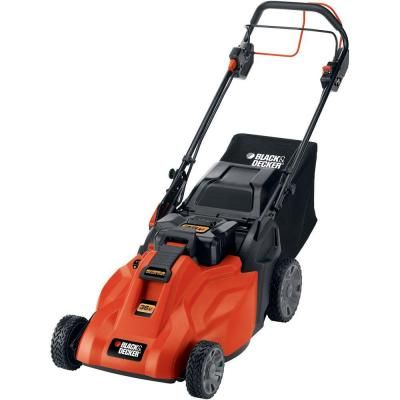 BLACK & DECKER 19 in. 36-Volt Self-Propelled Cordless Electric Mower with Removable Battery-SPCM1936 at The Home Depot
