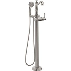 Delta Traditional Floor Mount Tub Filler Trim With Hand Shower   Less  Handle : Bath Products : Delta Faucet