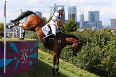 How to Become An Olympic Equestrian: Zara Phillips of Great Britain riding High Kingdom negotiates an obstacle in the Eventing Cross Country Equestrian event on Day 3 of the London 2012 Olympic Games