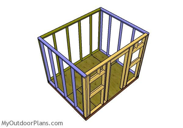8x10 Shed Plans Myoutdoorplans Free Woodworking Plans And Projects Diy Shed Wooden Playhouse Pergola Bbq In 2020 10x20 Shed Diy Shed Wooden Playhouse