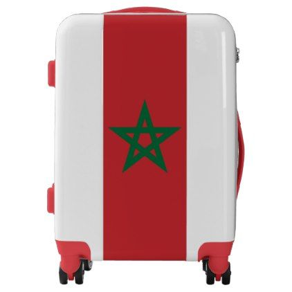 #Morocco Flag Luggage Suitcase - #luggage #suitcase #suitcases #bags #trunk #trunks