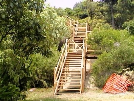 13 best stairs for slope images on pinterest stairs for How to build a house on a steep slope