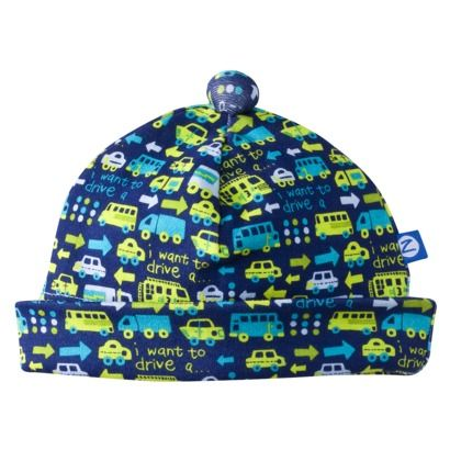 ZUTANOBLUE Newborn Boys Transportation Print Hat - Blue