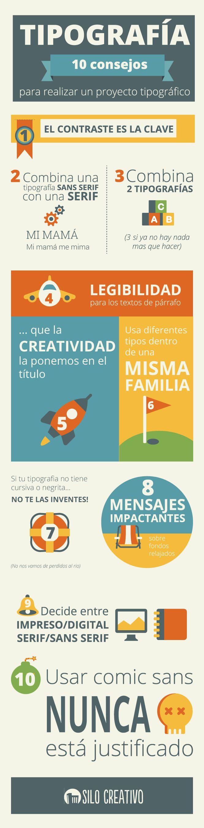 10 Consejos Para Combinar Tipografías #Infografía #InfografiaenEspañol | Diseño…
