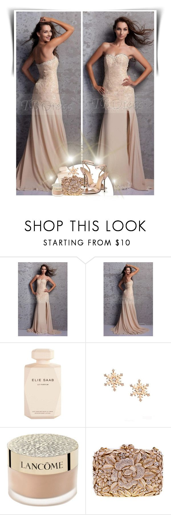 """""""TB Dress"""" by dalila-mujic ❤ liked on Polyvore featuring Elie Saab, Lancôme and tbdress"""