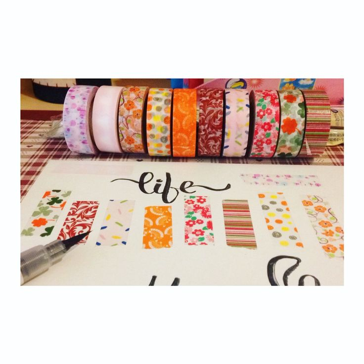 Washi tapes and lettering