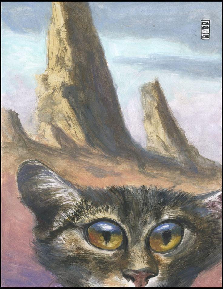 Desolation cat art by Greg Hergert