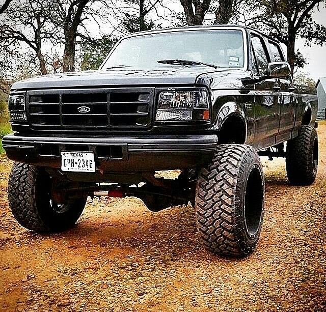 Old body style Ford lifted
