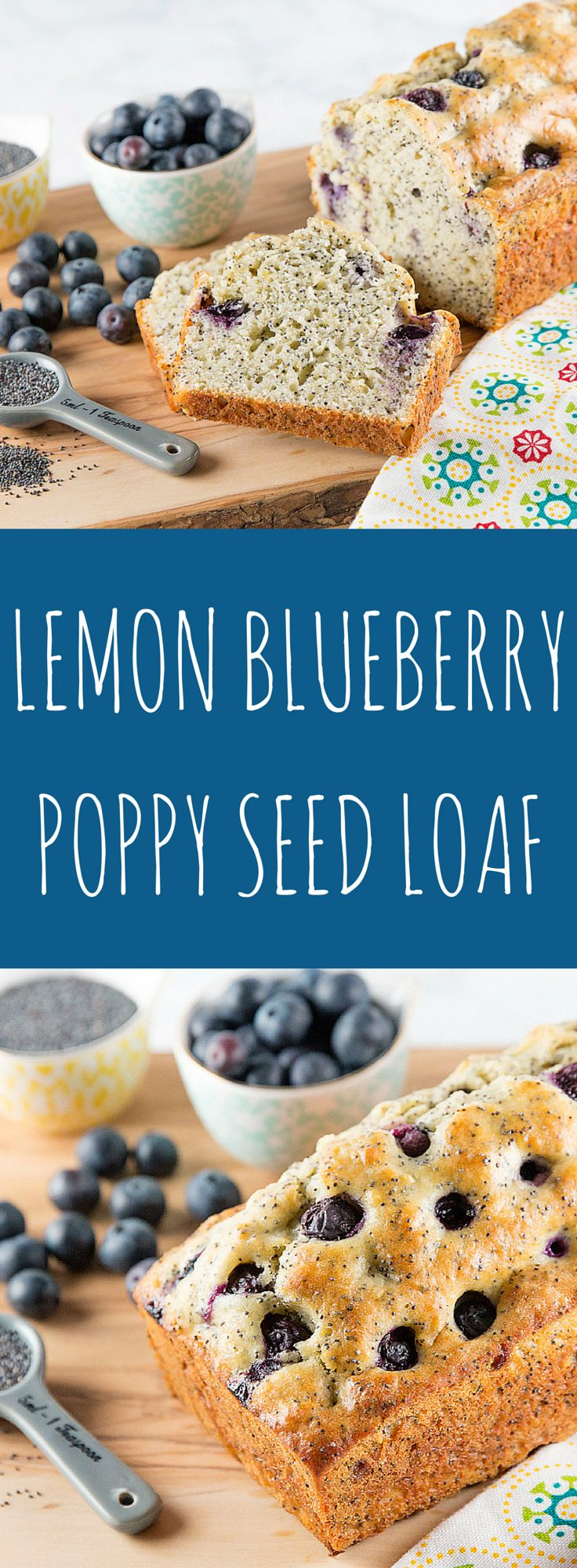 """This lemon blueberry poppy seed loaf is so """"berry"""" delish! Check it out! xoxoBella.com lemon, blueberry, loaf, bread, yummy, tasty, sweet, poppy seeds, lemon loaf, lemon loaf recipe, blueberry recipe, blueberry loaf"""
