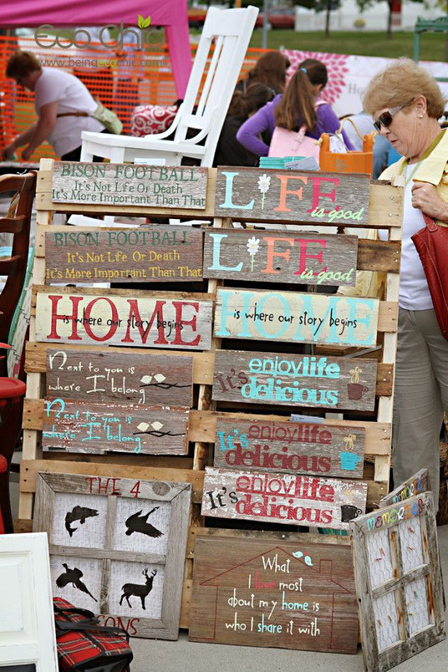 Signs at Eco Chic Fall Junk Market 2013