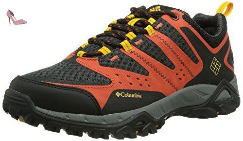 Columbia - Ventrailia II Outdry chaussures de randonnée pour hommes (bleu foncé/rouge) - 44,5 gris