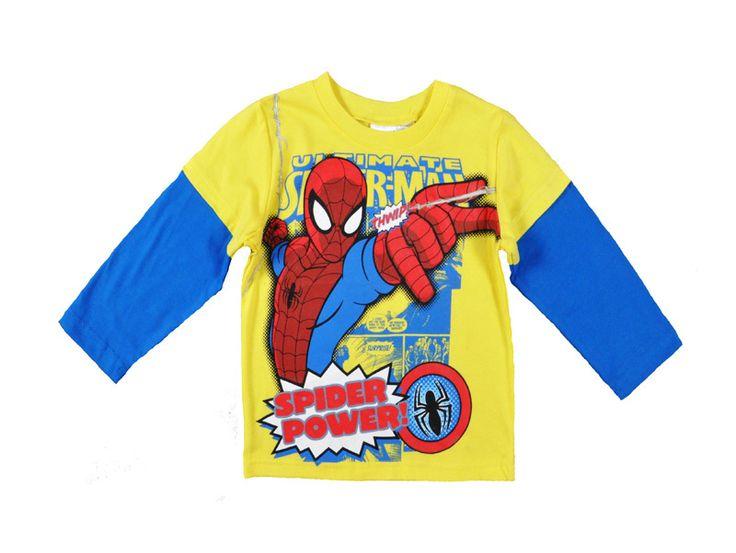 Boy T shirt spiderman cartoon cute printing baby boy clothes anime long sleeve designer brand sport new fashion vetement marque