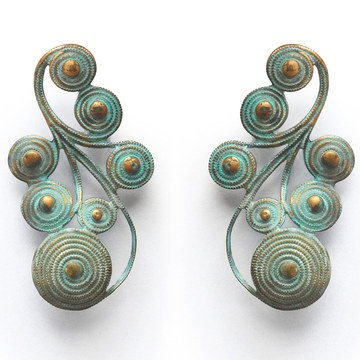 Nyah Verdigris Earrings, $32, now featured on Fab.