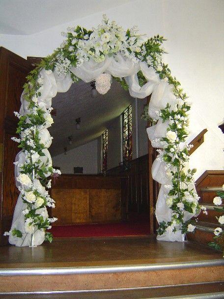Best 25 wedding arch tulle ideas on pinterest curtain for Arbor decoration ideas
