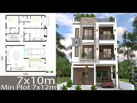 Home Design Plan 7x10m With 6 Bedrooms This Villa Is Modeling By Sam Architect With One Stori Modern House Floor Plans Simple House Design Duplex House Design