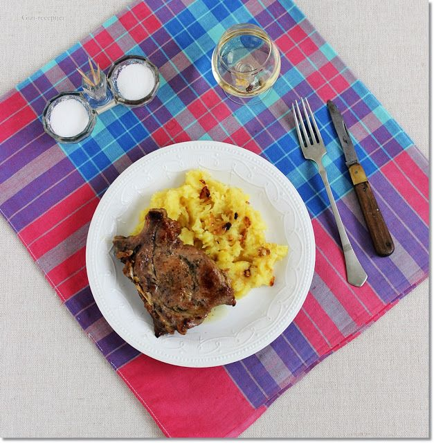Gizi-receptjei.  Várok mindenkit.: Fűszeres-boros sült tarja hagymás krumplival.