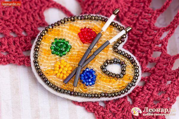 Брошь «Палитра» | Уроки творчества | Леонардо хобби-гипермаркет - сделай своими руками