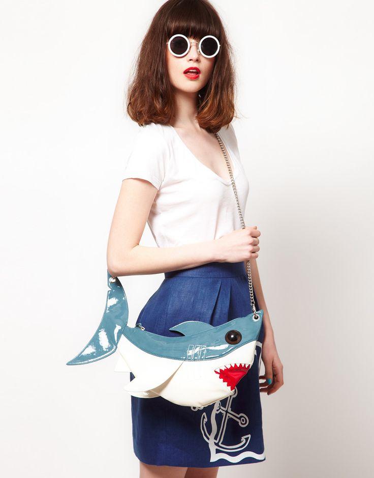 The Rodnik Band Shark Bag £45.00: Fish Bags, Bags 45 00, Sharks Bags, Sharks Purses, Summer Purses, Summer Bags, Bands Sharks, Sharks Attack, Rodnik Bands
