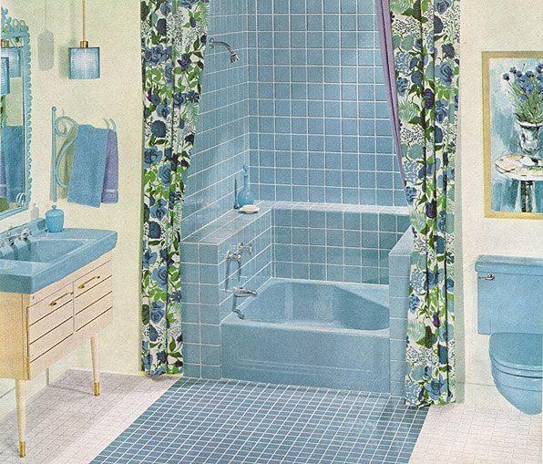 Mid Century Bathroom Tile: 558 Best Images About Retro Bathrooms On Pinterest