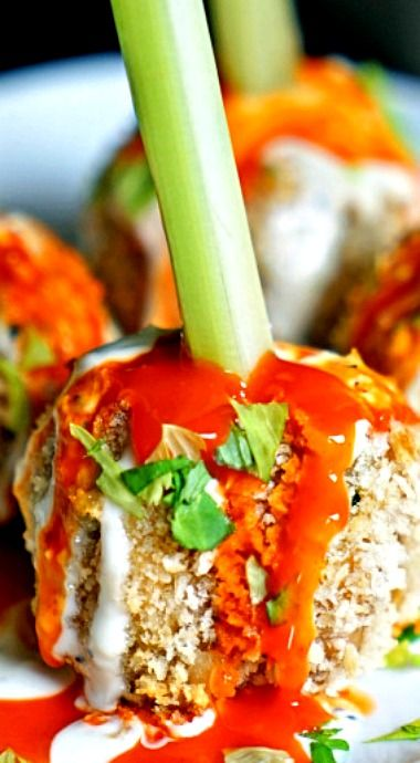... | Buffalo chicken meatballs, Honey barbeque chicken and Bread crumbs
