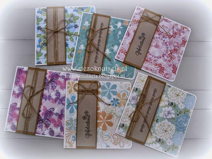 Miranda's Creaties - Serie kaarten met bloemen en vlinders voor ZieZo Knutsels
