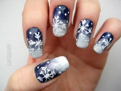 nail art - snehové vločky/snowflakes (obrázky, videá s postupom)