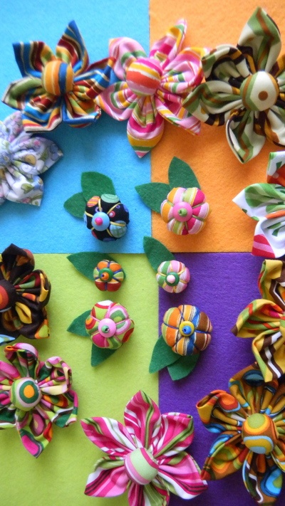 Clover USA » Make It » Fabric Yo-Yo Flowers