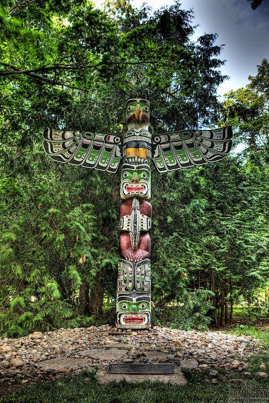 Totem Pole, grounds of Rideau Hall, Ottawa, Canada