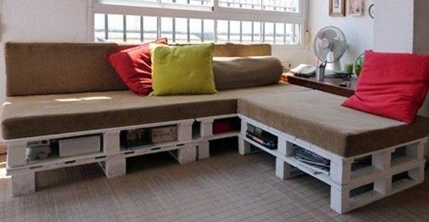 DIY: Stylish en goedkope bank van oude pallets http://www.nsmbl.nl/diy-stylish-en-goedkope-bank-van-oude-pallets/