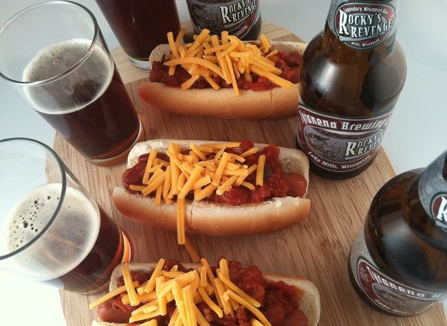 Chili and Cheese Dogs with Tyranena's Rocky's Revenge