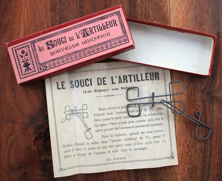 Antique French victorian puzzle/brain teaser game: the question of artillery by LaChineuseFrancaise on Etsy