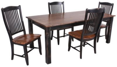 Homemakers Furniture: Table & 4 Chairs: Canadel: Dining: Dining Sets