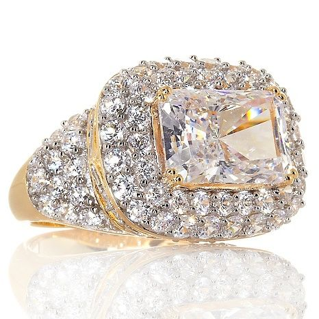 Victoria Wieck 6.87ct Absolute™ Super Radiant-Cut Ring
