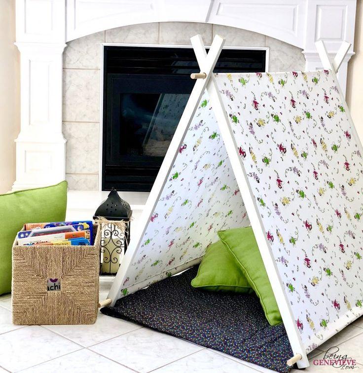 Simple DIY Kid Tent Camere bambino montessori