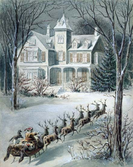 American School-Illustration from 'Twas the Night Before Christmas'